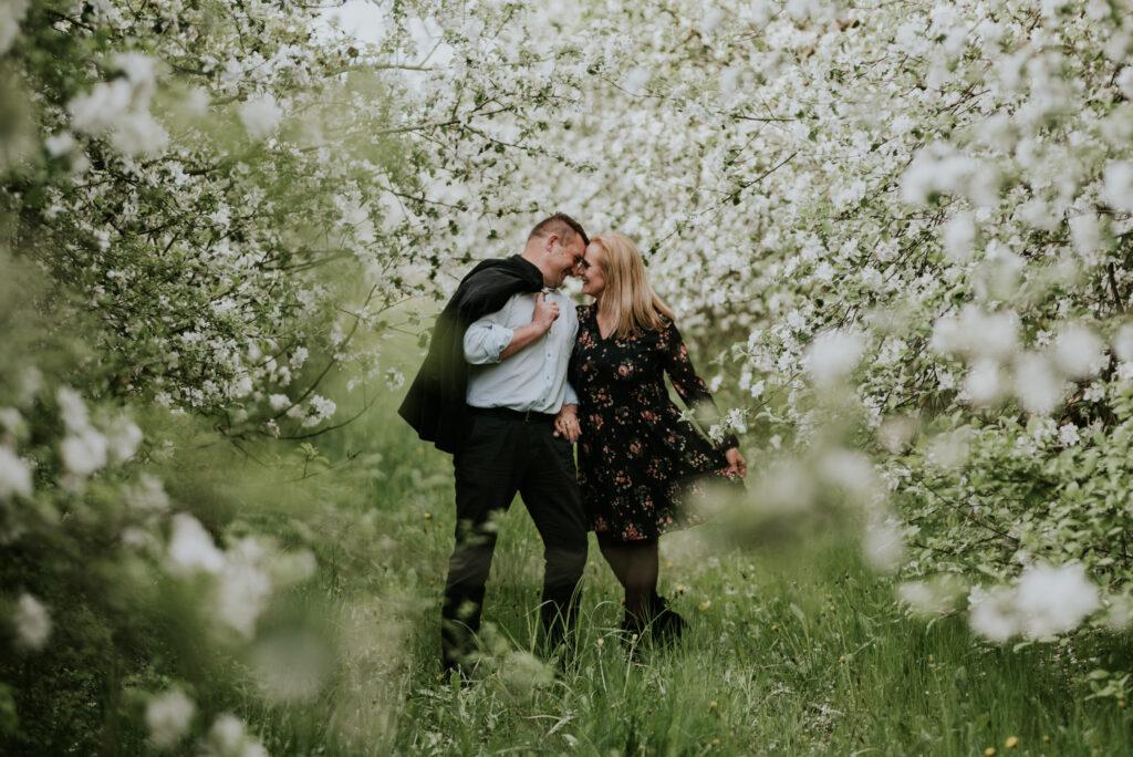 sesja ślubna _ wisienka na torcie_ fotograf na ślub _rocznica _sesja w jabłoniach
